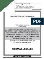 arbitrios 2017 Ordenanza N°297-MDCH