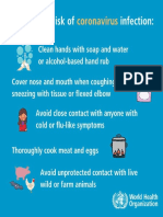 World Health Organization - Reducing Risk of Coronavirus Infection