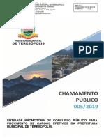EDITAL CHAMADA 2019 - ENTIDADE ORGANIZADORA CONCURSO PÚBLICO