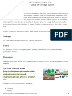 Design Of Sewerage System _ Civil Engineers Pakistan
