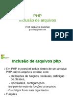 PHP Inclusão de arquivos