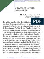 GENERALIDADES DE LA VISITA DOMICILIARIA