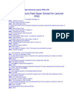 English Literature Past Paper Solved for Lecturer PPSC