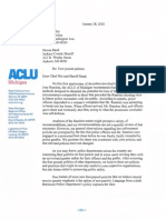 ACLU Letter to Jackson Police Chief and Sheriff