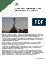 La France a envoyé au moins un radar en Arabie Saoudite