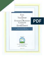 F&T of Ethanol-Blended Gasolines 1999
