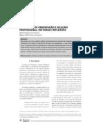 Processos de orientação e seleção profissional