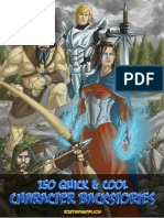 150 Quick Character Backstories