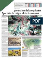 Confirman que manantial arequipeño Apacheta da origen al río Amazonas