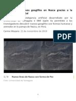 Nazca - Descubiertos nuevos geoglifos (21-11-19) (5P)
