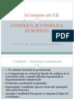 Consiliul si Consiliu UE