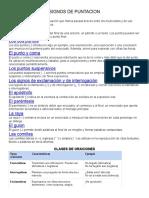 SIGNOS DE PUNTACION