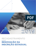 Cartilha - Recadastramento 2019