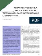 Uso de las patentes en la practica de la vigilancia tecnológica