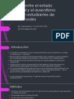 Relación entre el estado nutricional y el ausentismo.pptx