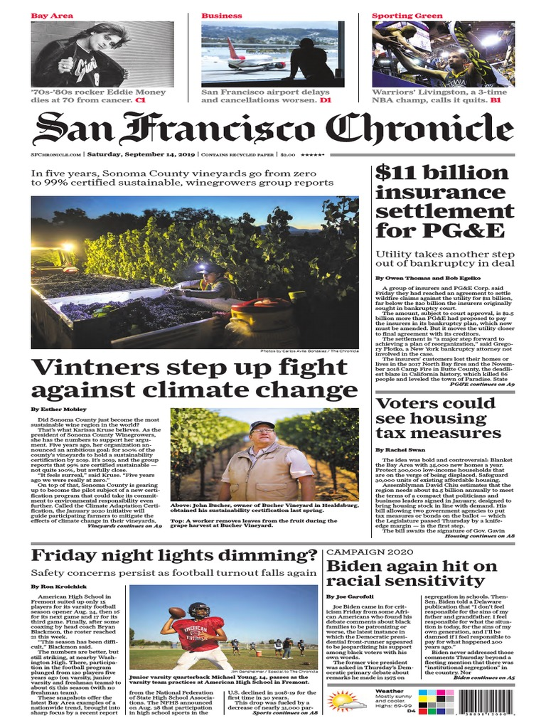 San Francisco Chronicle September 14 2019 Nature Business