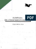 Examen Olimpiada del Conocimiento Infantil