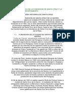 RESEÑA HISTORICA DE  SANTA CRUZ