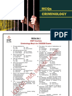 Criminology Mcq's Drill