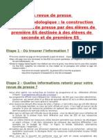 Revue de Presse Du 24 Au 30 Novembre 2010