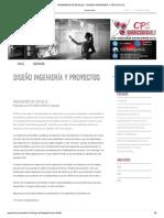 INGENIERÍA DE DETALLE - DISEÑO INGENIERÍA Y PROYECTOS