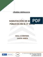 INFORME DE PRUEBA HIDRAULICA DE TUB. AGUA