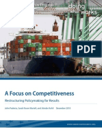 A Focus on Competitiveness