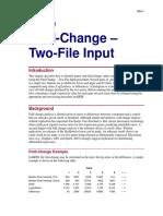 Fold-Change - Two-File Input