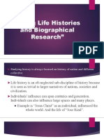 Doing Life Histories and Biographical Research