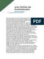 Curso Online de Aromaterapia | https://pedidosdecursos.com/