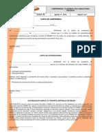 COMPROMISOS Y ACUERDOS CON CONDUCTORES TERCEROS RG-SSE-003