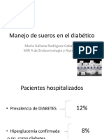manejo de sueros en el diabético