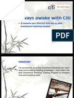 Cover Letter Citi