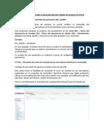 PROCESO DE CIERRE DE STOCK