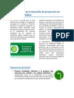 Herramienta de evaluacion de proyectos de alumbrado publico