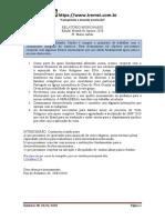 Relatório Missionario Janeiro 2020