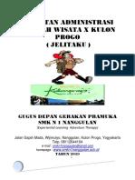 COVER ADMINISTRASI JELAJAH WISATA X KULON PROGO