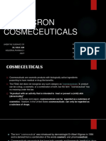 SUB MICRON COSMECEUTICALS IN DRUG DELIVERY