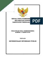 PERDES INFORMASI PUBLIK DESA SUMBERBENING