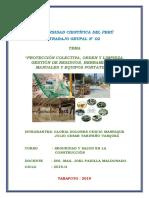 TRABAJO N° 02 - PROTECCIONES COLECTIVAS, ORDEN Y LIMPIEZA ; GESTIÓN DE RESIDUOS Y HERRAMIENTAS MANUALES Y EQUIPOS PORTATILES.