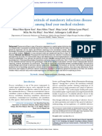 Knowledge of infectious disease notification among undergraduate students