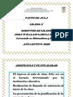 PACTO DE AULA Grado 8    2020