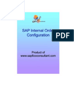 SAP Internal Order Investment Measure Configuration