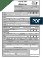 BIR Form No. 0901- P (Business Profits)