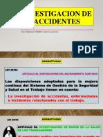 i INVESTIGACION DE ACCIDENTES