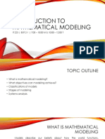 introduction to mathematical modeling