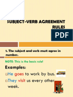 Subject-Verb Agreement Rules - bangg