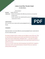 Pronunciation Lesson Plan