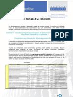 Developpement Durable et ISO 26000
