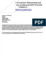 Copy of Fundamentals of geometric dimensioning and tolerancing by alex krulikowski downloads torrent